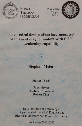 Theoretical design of surface-mounted permanent magnet motors with field-weakening capability